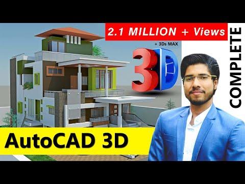 [ COMPLETE ] AutoCAD 3D in 2 Hours With RENDERING Complete Tutorial   FREE NOW