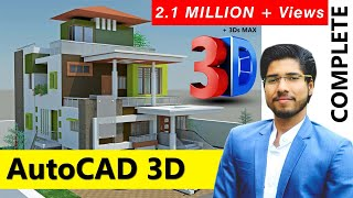 [COMPLETE] AutoCAD 3D in 2 Hours With RENDERING Complete Tutorial | FREE NOW