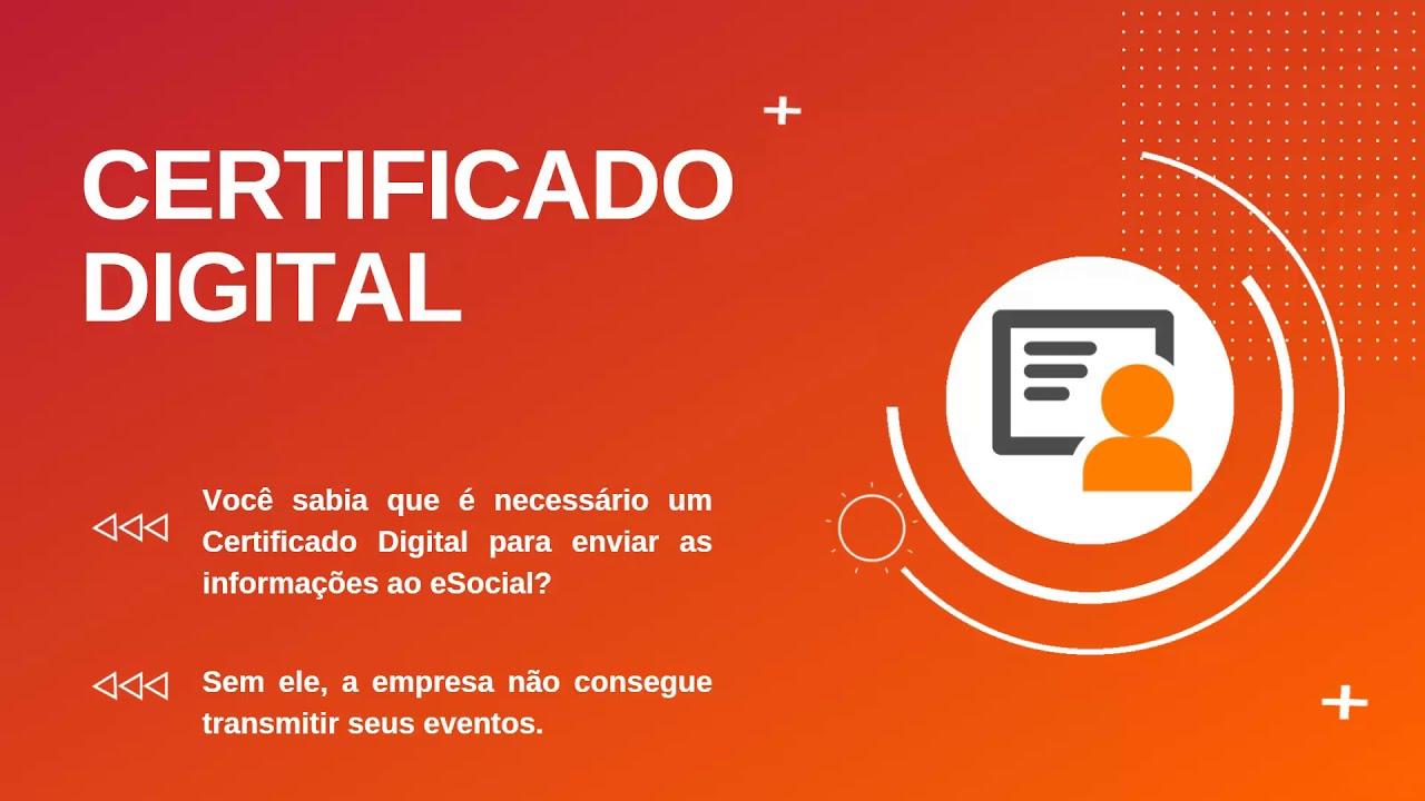 Como configurar o certificado digital para enviar o eSocial?
