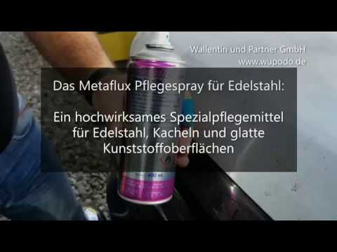 Edelstahlpflege im Test 👍 Edelstahl polieren 💫 mit Metaflux Edelstahl Pflegespray