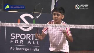 SFA Mumbai 2015   Badminton   Aadit Jain Vs Aarav Ovalekar   Boys   U11   Q/F