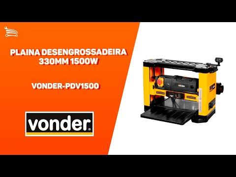 Plaina Desengrossadeira 330mm 1500W  - Video