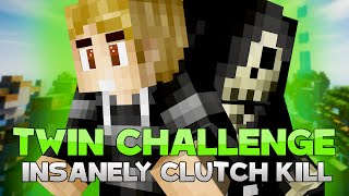 THE TWINS CHALLENGE + INSANELY CLUTCH KILL! ( Hypixel Skywars )