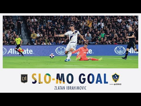 SLO-MO GOAL: Zlatan Ibrahimovic blows kisses to the LAFC fans as he scores his second goal