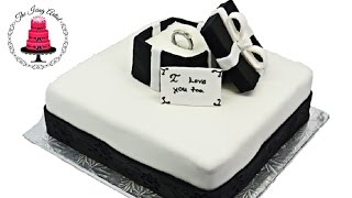 Ring Box Engagement Cake - How To With The Icing Artist