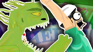 SWAMP MONSTER ATTACK!! | Happy Wheels