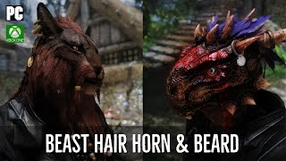 Skyrim Mods: Beast Hair Horn and Beard - Hair Replacer for Skyrim Khajiit and Argonian | PC & XBOX