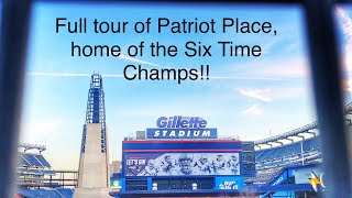 ROAD TRIP TO GILLETTE STADIUM AND TOUR OF PATRIOT PLACE