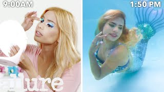 A Professional Mermaids Entire Routine, From Waking Up To Saving The Ocean | Allure