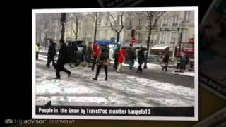 preview picture of video 'Snow in Paris Kangelo13's photos around Paris, France (is it snowing in paris today)'
