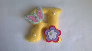 How To Make A Cute Felt Letter - DIY Crafts Tutorial - Guidecentral