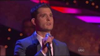 Michael Buble performing Feeling Good on DWTS
