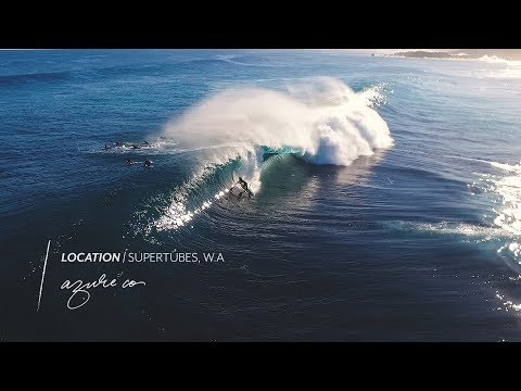 Surfing drone footage of Supertubes at Cactus Beach