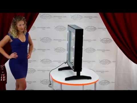 video LTVX2 Specchio trucco doppio con 12 luci I-light