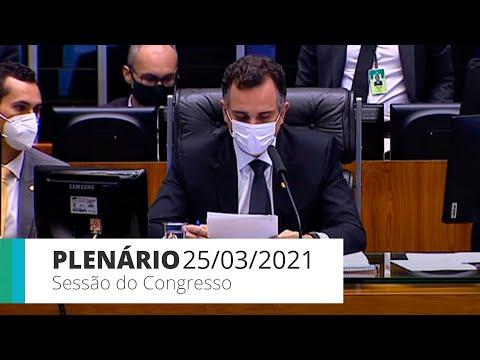 Sessão do CN Câmara - Deputados concluem votação da proposta orçamentária – 25/03/21