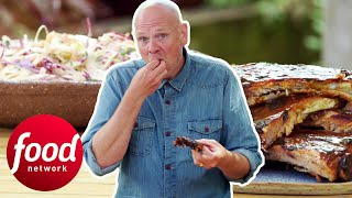 Tom Kerridge Makes Authentic Sticky Baby Back Ribs With Coleslaw | Tom Kerridge Barbecues