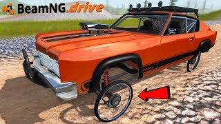 BICYCLE WHEELS ON CARS - BeamNG Drive