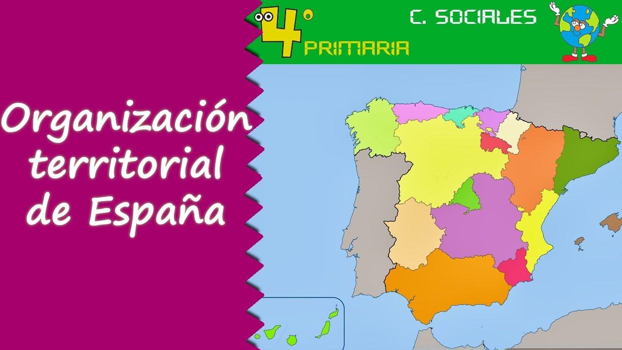 Ciencias Sociales. 4º Primaria. Tema 5. Organización territorial de España