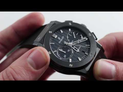 "Hublot Classic Fusion ""All Black"" Luxury Watch Review"