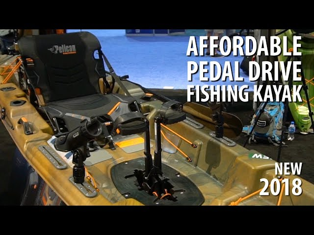 NEW Pelican Catch 130HD Affordable Pedal Drive Fishing Kayak | ICAST 2018