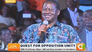 The COST OF STEALING the election is REGRETTABLE - Raila Odinga