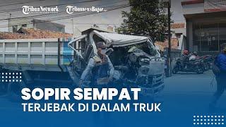 Kecelakaan di Jalan Raya Cibanteng Bogor, Sopir sempat Terjebak di Dalam Truk