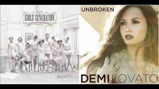 SNSD/Demi Lovato - Born To Be a Lady/Mistake remix