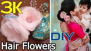 Bridal Hair Flowers DIY || Hair Accessories || Hair Flower Vine Tutorial