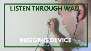 Listen Through Wall Spying Device - Tutorial