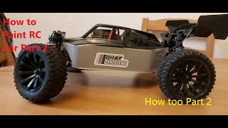 Paint And Trim A RC Car body Shell How Too part 2