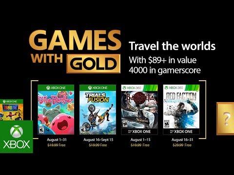 Games with Gold di agosto: ecco i titoli gratuiti in arrivo su Xbox One e 360