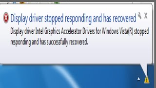 Display driver stopped responding and has recovered error in windows 7 Quick fix
