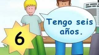 How old are you? - ¿Cuántos años tienes? - Calico Spanish Songs for Kids