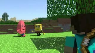 Губка Боб в MineCraft 2!   Анимация Продолжение рус