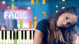 Te Lo Dije   Natti Natasha X Anitta   Piano   Facil   Lento   Synthesia