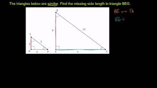 Missing Measurements for Similar Triangles