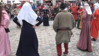 preview picture of video 'Tanzgruppe von Eulenspiel & Spielleute von Tanzebom in Eggenburg: Al' entrada'