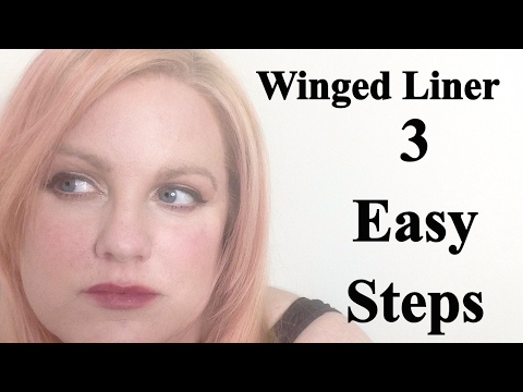 Winged Liner/Cat Eyes For Mature And Hooded Eyes 3 Easy Steps