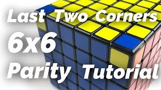 how to solve a 6x6 rubik's cube edge parity - TH-Clip