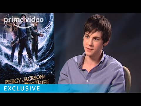 Cute Logan Lerman talks Percy Jackson | Prime Video
