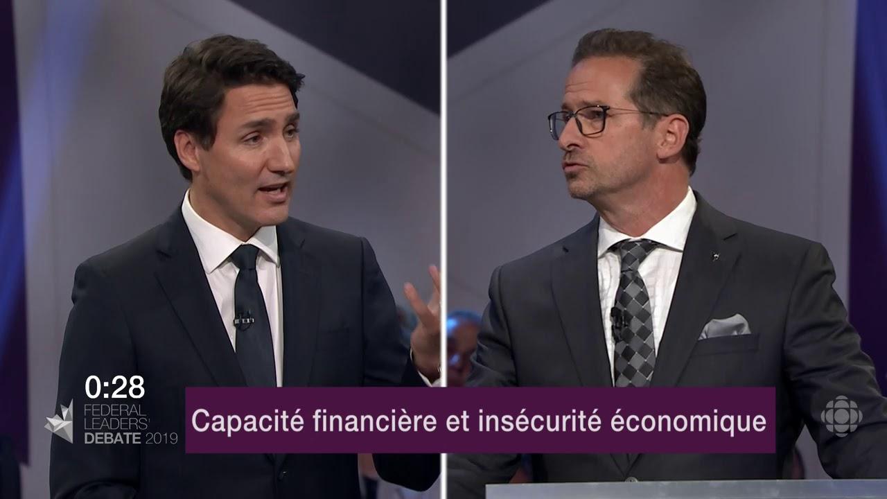 Yves-François Blanchet et Justin Trudeau débattent sur la péréquation