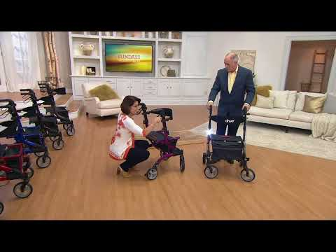 Drive Medical Foldable Lightweight Rollator with Light on QVC