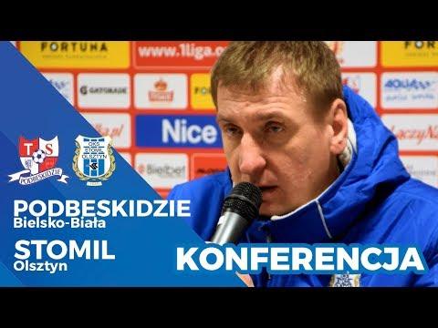 Konferencja prasowa po meczu Podbeskidzie Bielsko-Biała - Stomil