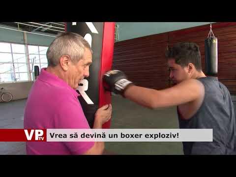 Vrea să devină un boxer exploziv!