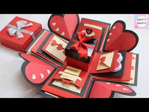 How to make Explosion box / DIY  Valentine's Day Explosion Box /Explosion Box Tutorial