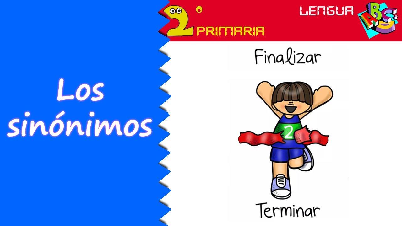 Lengua Castellana. 2º Primaria. Tema 2. Los sinónimos