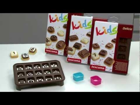 Video TESCOMA formičky na čokoládu s vykrajovátky DELÍCIA KIDS, číslice 2