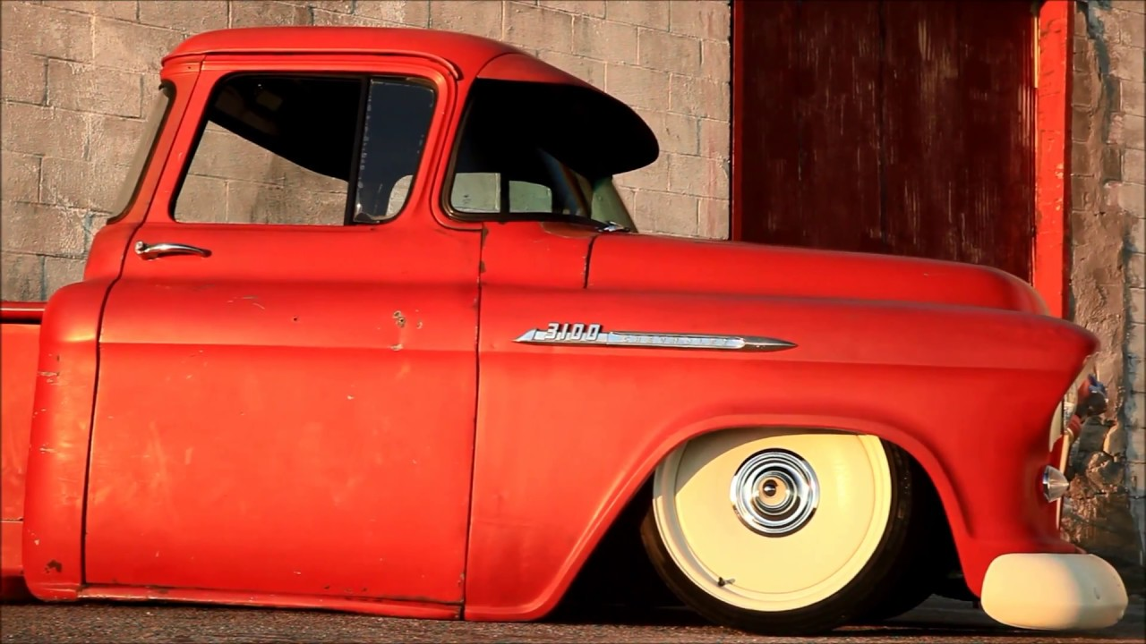Video Cherry Dipped 56 Slammed Patina Chevrolet V8 Hot Rod Muscle 1949 Chevy Truck For Sale