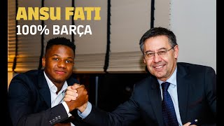 Ansu Fati signs improved contract
