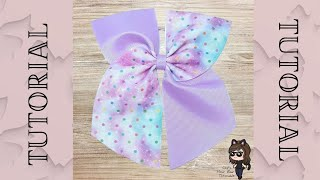 CHEER BOWS - EASY TO MAKE 3 RIBBON DIY HAIR BOW TUTORIAL- CUTE ON TREND BOW